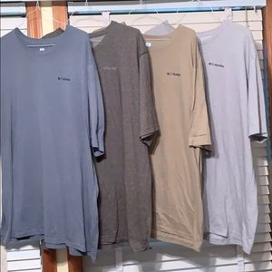 Men's Columbia T-shirts Omni Size 4XT Bundle of 4